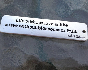 Life Without Love Quote Pendant - FAST SHIPPING