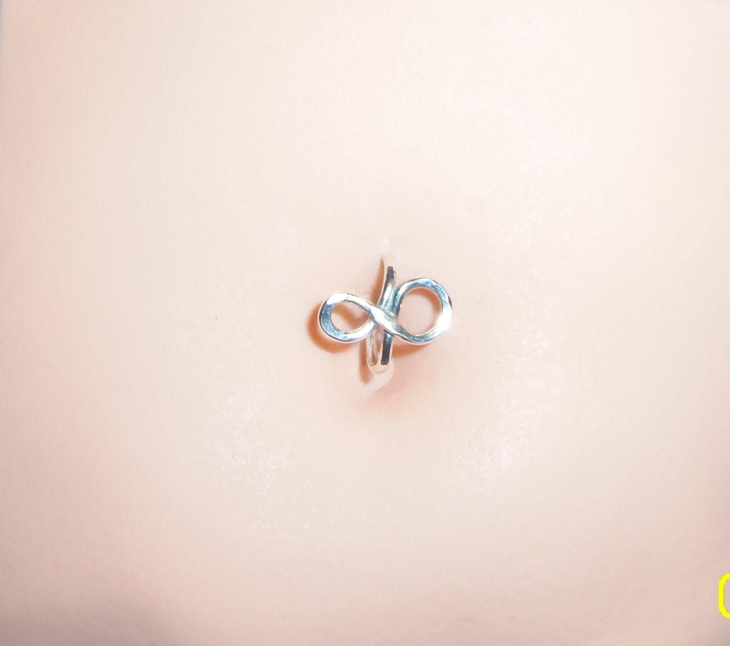 sterling silver infinity belly button ring 1416 gauge
