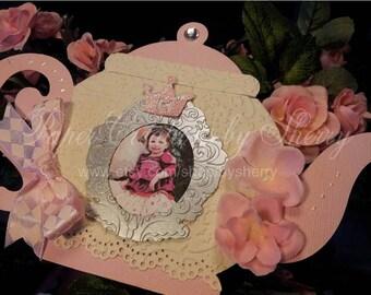 Boutique Custom Princess Tea Party/Teapot Tea pot  Invitations Set of 10