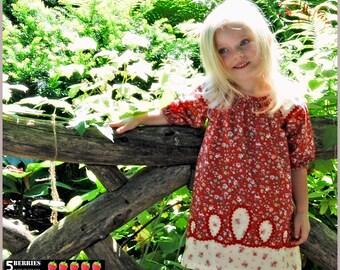Prairie Girl Peasant Dress Pattern + Free Mother-Daughter Apron Pattern,  Childrens Sewing Patterns, pdf patterns, toddler patterns,