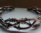 Braided Copper Wire Work Cuff Bracelet