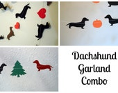 Dachshund Holiday Garlands Combo Pack - Valentine's - Halloween - Christmas