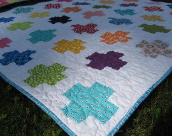 Plus Quilt ~ Fun and Colorful