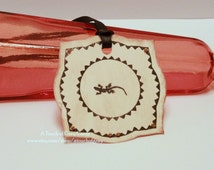 Halloween Gift Tags (Double Layered) - Little Creature - Vintage Inspired Handmade Halloween Tags (Set of 8)