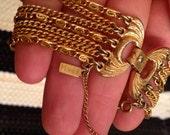 Vintage 1970's Monet Chain Bracelet