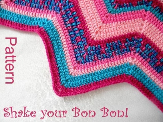 Pdf Pattern Crocheted 12 Pointed Star Blanket Shake Your Bon