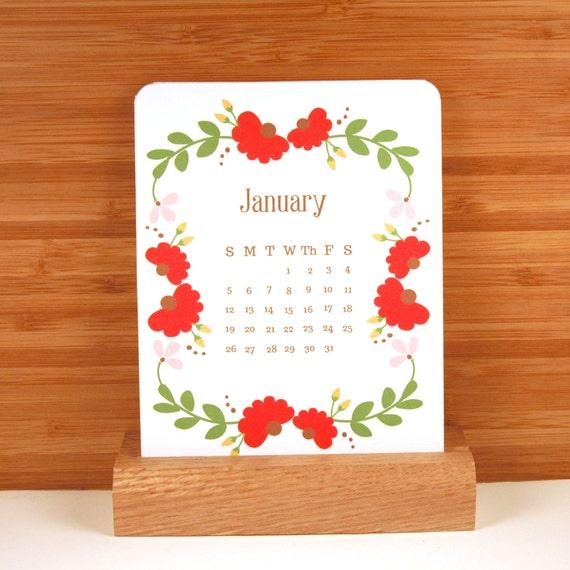 2014 Desk Calendar - Floral