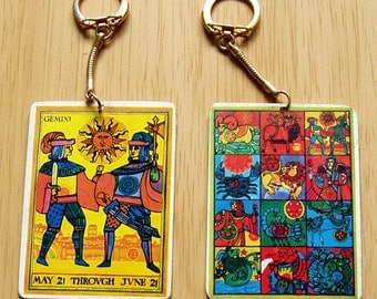 Gimini Zodiac Key Chain from the 1970's