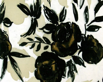 Art on silk Moody Black Rose Art print, 40 percet off