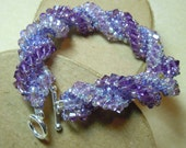 PATTERN The Embrace spiral bracelet with twin beads crystals