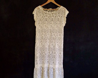 SALE Cream Lace Dress