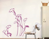 Elegance Calla Lily  flower  ----Removable Graphic Art wall decals stickers home decor
