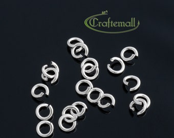 20 Sterling Silver Jump Rings - Open 6mm