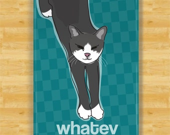 Cat Magnet - Whatev - Funny Cat Fridge Refrigerator Magnets Gifts
