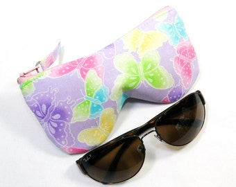 Curves Lavender Eyeglass Case, Sunglasses Case, Pink, Yellow, Green, Purple