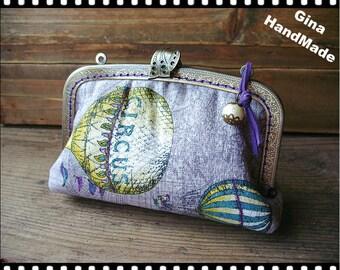 Purple Balloon  iphone case // Coin metal purse / Coin Wallet / Pouch coin purse / Kiss lock frame purse bag-GinaHandmade