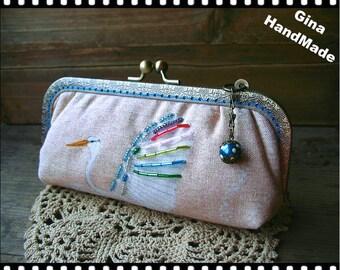 Egret  iphone case // Coin metal purse / Wallet / Pouch / Coin purse / wedding clutch / kiss lock frame purse bag-GinaHandmade