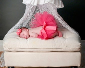 Hot Pink/ Fuschia newborn tutu with headband....newborn tutu, baby tutu, birthday tutu, photography prop