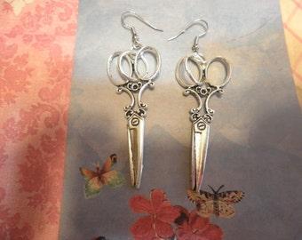 Large Scissor Earrings