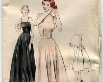 Vintage Long and Short Slips, Bouffant Petitcoat Sewing Pattern- Butterick 5933 - Size 20 - Bust 38, Waist 32