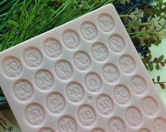 Padico Japan Alphabet Clay Mold, Number Mold, Resin Mold - can use for Hearty Clay, Modena Clay or Grace Clay
