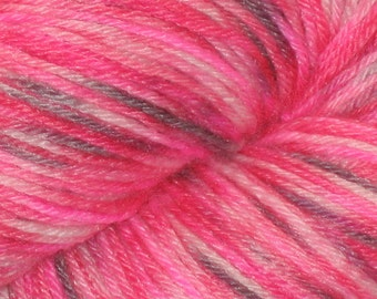 Red Black and Pink Handpainted BlueBoo Yarn