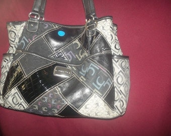Vintage purse from 1980's   patches  Lc bag