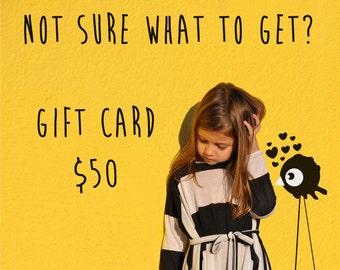 Gift voucher, gift card 50dollars