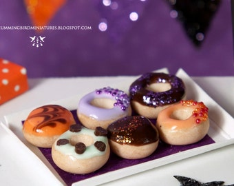 Trick or Treat Donuts 1/12 scale dollhouse miniature