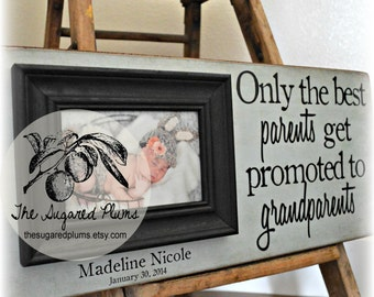 Grandma, Grandparents Gift, Mothers Day, Fathers Day, Personalized Picture Frame, Grandmother, Dad Grandfather Grandchild PaPa 8x20