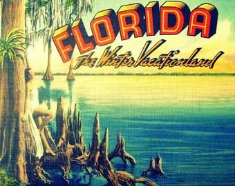 Old Florida Art, Coastal Art, Old Florida Art Gift, Art Deco Print, Vintage Beach Art, Vintage Beach Print, Art Deco Art Print, Coastal Art