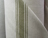 FRENCH LAUNDRY Linen/cotton Green Stripes designer multipurpose fabric