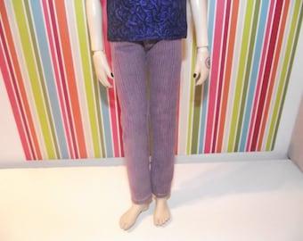 Light purple skinny corduroy pants for Taeyang