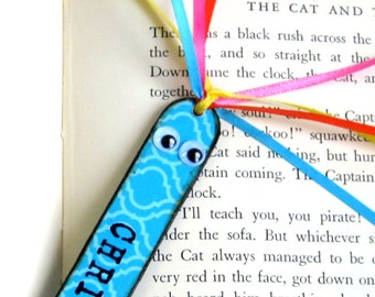 Childs Bookmark Personalized Kids Children Stocking Stuffer Back to School Class Gift School Supplies Book Marker Custom Name Bookworm