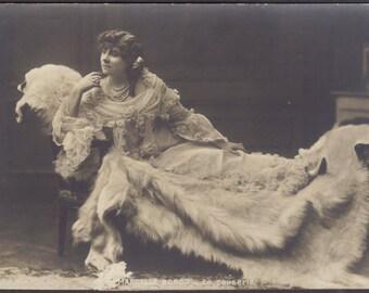 Marcelle Bordo, Belle Epoque Artiste, Lounges Luxuriently, circa 1905