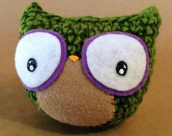 Woodland Owl // amigurumi // green