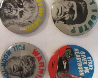 Four Vintage 1960's Halloween Pins