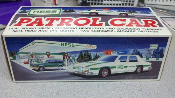 1993 hess truck police car vintage new in box by. Black Bedroom Furniture Sets. Home Design Ideas
