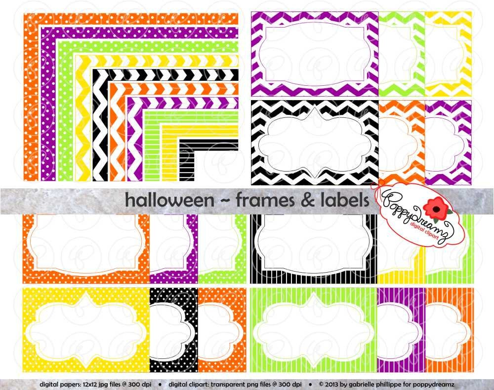 Image Gallery of Colorful Chevron Page Borders