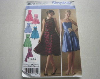 Pattern Women Dress Formal Party Prom Sz 12 to 20 Simplicity 4070 A
