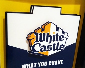 White Castle Hamburger Box 3D Pop Art