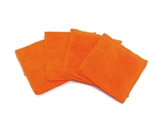 Microfiber Hand Mitts- Set of 4- ORANGE- 26002