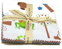 "Hooty Hoot Returns 5"" Squares Charm Pack by Doohikey Designs for Riley Blake, 22 pieces"