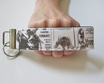 Key Fob Wristlet- House of Horrors