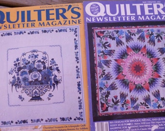 1992 Quilter's Newsletter Magazine 2 Issues