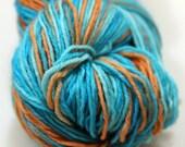 Oink Pigments Sock Hand Dyed Superwash Merino yarn - Goldfish Bowl