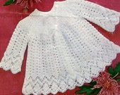 Knitting pattern, baby sweater, angel top, baby girl, baby dress pattern, digital download, vintage style, heirloom, christening, Easter,