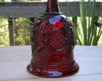 Christmas Bell in Ruby Red Cape Cod by Avon - Oak Hill Vintage