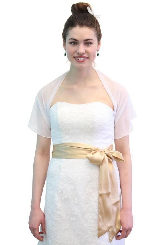 Chiffon Bridal Wrap Wedding Shawl - White 5139CH