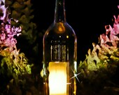CLEAR Wine Bottle Candle Holder Hurricane Lamp